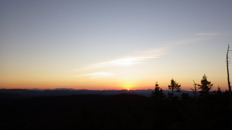 Rock Climbing Photo: Sunset after topping out on VJs