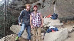 Rock Climbing Photo: guess which one of us is the dirtbag