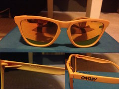 Oakley Frogskin Sunglasses. These are in good condition, but have some scratches on the right lens. $40