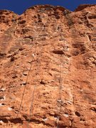 Rock Climbing Photo: draws are on mecca, the climb to the left is As th...