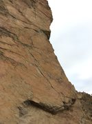 Rock Climbing Photo: The furthest line right, 3 bolt section with black...