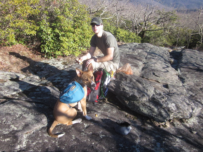 Top of blood mountain, just by the shelter