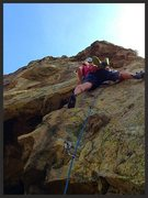 Rock Climbing Photo: Sean Burke on the FA of Bridge of Sighs.