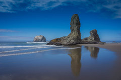 Bandon Beach stacks.