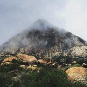 Rock Climbing Photo: El Cajon Mountain Under Mist