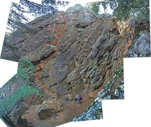Rock Climbing Photo: Alternate of Left Corner named Bold Route, showing...
