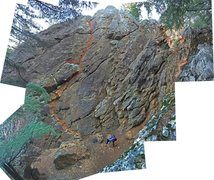 Rock Climbing Photo: Left Corner route