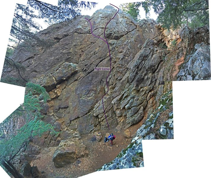 Rock Climbing Photo: Route with alternate finish