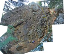 Rock Climbing Photo: route overview (not sure I got bottom correct)