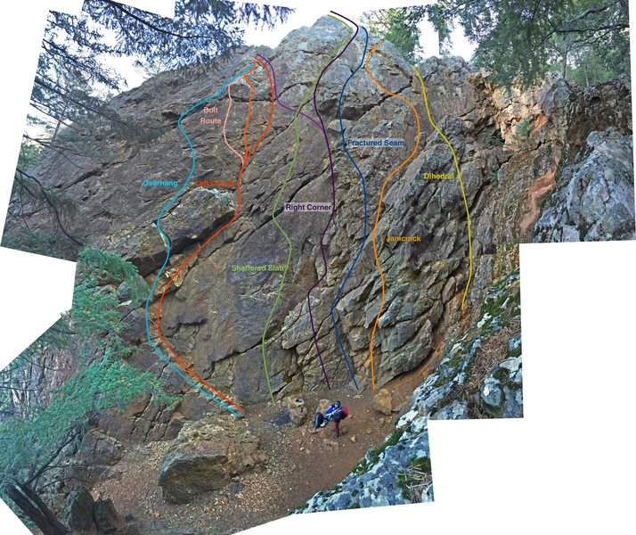 Rock Climbing Photo: Route overviews
