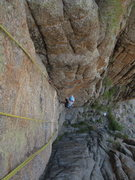 Rock Climbing Photo: Stef hits the right-side first layback mentioned i...