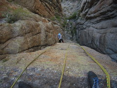 Rock Climbing Photo: The left-side layback that immediately follows the...