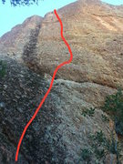 Rock Climbing Photo: follow the red line