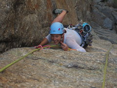 Rock Climbing Photo: I asked her if she thought the pitch was mellow to...