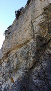 Rock Climbing Photo: Side view; Apetizer is the middle line.