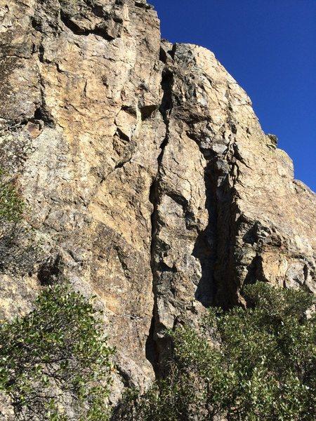 Rock Climbing Photo: Hailstone crack - get on it!