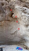 Rock Climbing Photo: Rope hanging on 11b flake