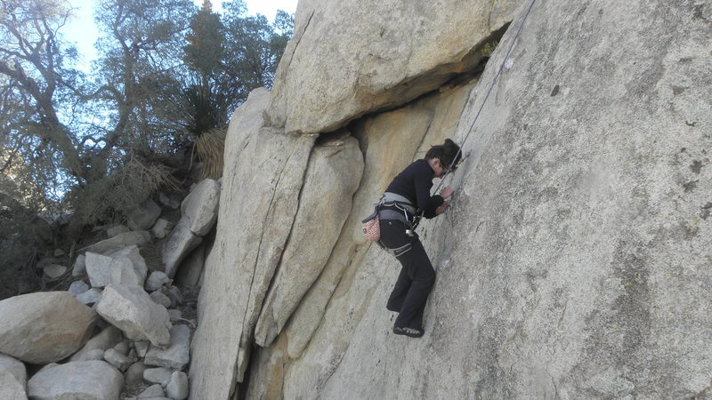 Rock Climbing Photo: Rebeca Russel on B & B.