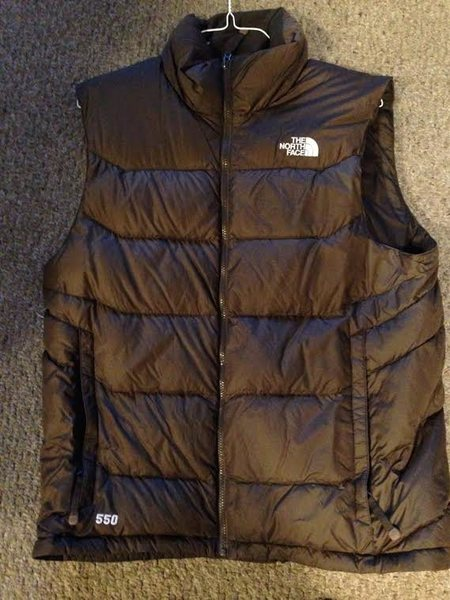 North Face Down vest, Size Large- 40.00