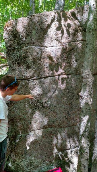 Rock Climbing Photo: The easy slab line of Environmental Destruction