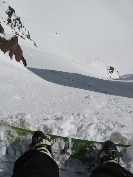 Shralpinists' POV of 11 o'clock couloir