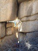 Rock Climbing Photo: I chicken keyhole.