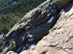 Rock Climbing Photo: Looking down the neat ramp that zig-zags through t...