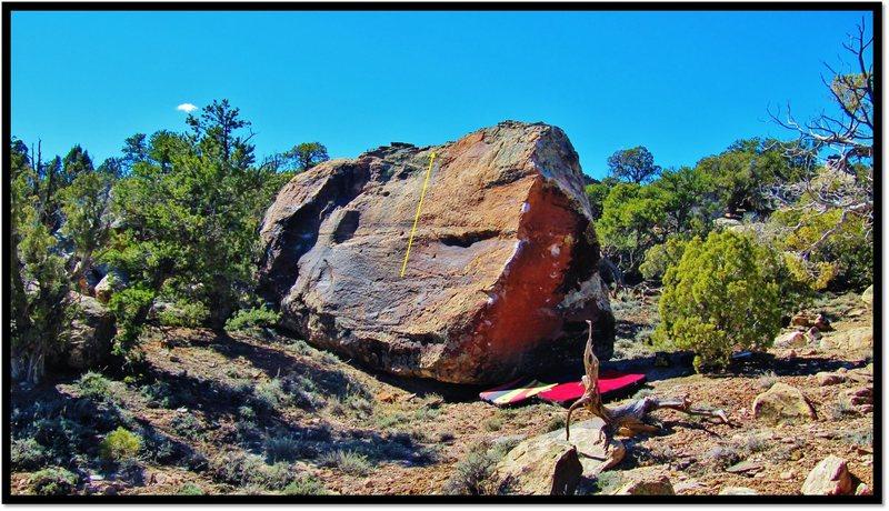 Rock Climbing Photo: Third Eye Pizzazz problem beta.