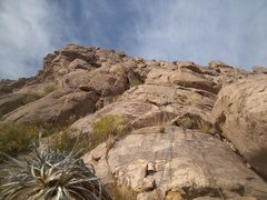 Rock Climbing Photo: Pitch 1 from below. Photo Elijah Schold.