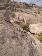 Rock Climbing Photo: Pitch 2 as seen from Pitch 1 belay. Photo Elijah S...