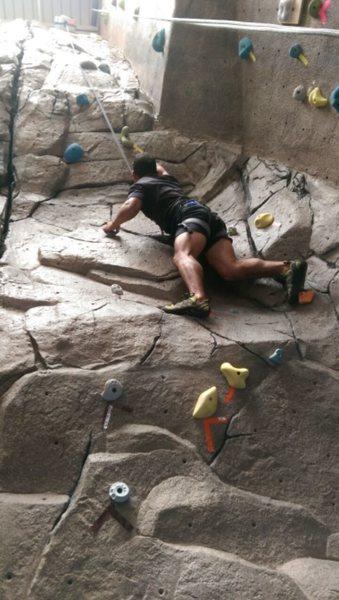 Rock Climbing Photo: At work