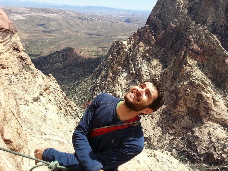 Rock Climbing Photo: Getting a last smile in before the business on lev...