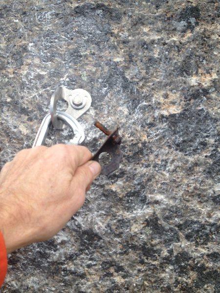 Rock Climbing Photo: New bolt but same old run out