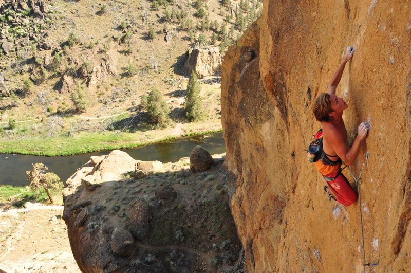 Rock Climbing Photo: Harrison staying cool on Bloodshot