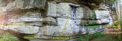 "Rock Climbing Photo: In progress beta of ""Skull Section"""