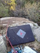 Rock Climbing Photo: the directional to keep the top rope on route