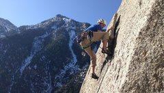 Rock Climbing Photo: db on the third pitch. Photo: Clay Watson