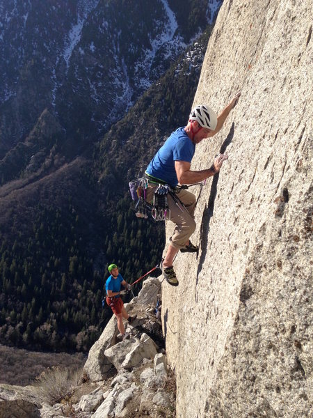 Rock Climbing Photo: db on pitch 3 of Ripping Wall, belayed by Austin B...