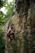 Rock Climbing Photo: Chris Deal on the Route, photo by Carly Deal