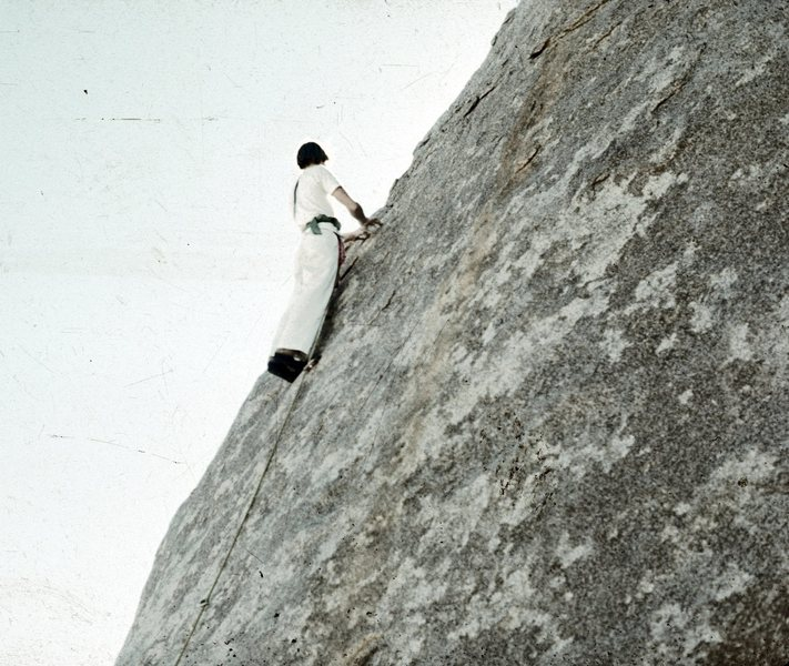 Dimes on 1st Ascent of Just Slightly Ahead of Our Time. Originally rated 11c. Name was derived from the Panasonic advertising phrase being used at the time.