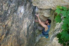 Rock Climbing Photo: Brian leadin