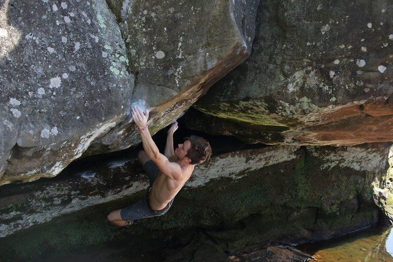 Rock Climbing Photo: hitting the sloper