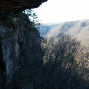 Rock Climbing Photo: View from under the roof on Mrs Fields Follies