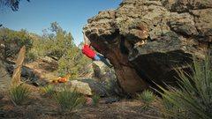"Rock Climbing Photo: Reaching the ""thank goodness"" edge on Re..."