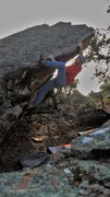 Rock Climbing Photo: Getting established on the sloping arete of Recycl...