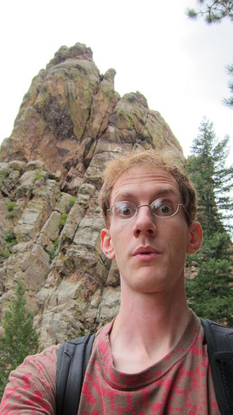 Rock Climbing Photo: Exploring Eldo a few weeks after moving to CO (Mid...