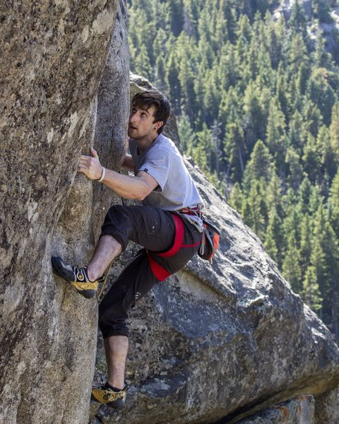 "Rock Climbing Photo: Working ""Sinopia"" - 5.13a in Boulder Can..."