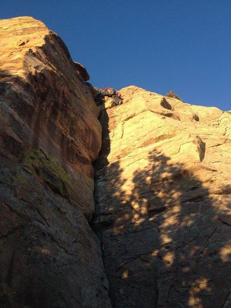 Rock Climbing Photo: Towards the top.