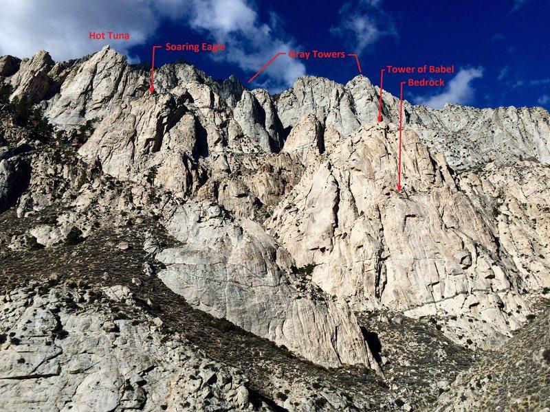 Bedrock Tower at bottom right