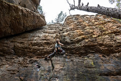 Rock Climbing Photo: Involuntary Manslaughter 5.10d P.C. Danny Henkel